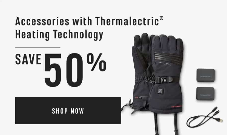 Accessories with Thermalectric® Heating Technology Save 50%