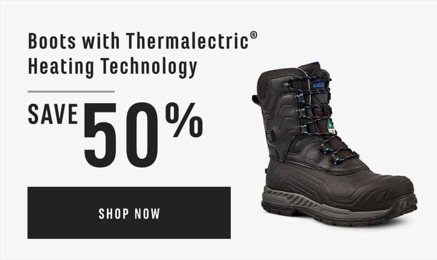 Boots with Thermalectric® Heating Technology Save 50%
