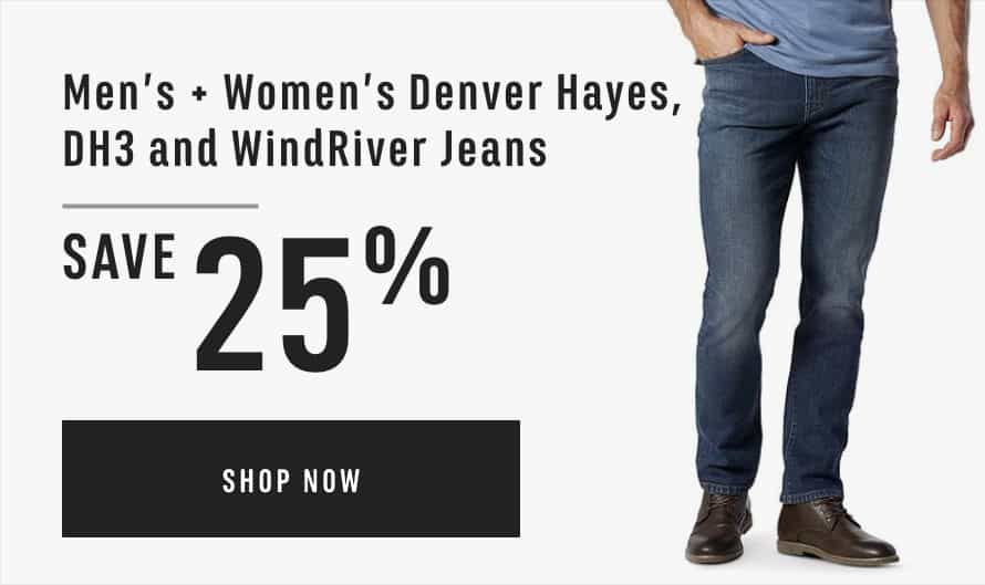 Men's & Women's Denver Hayes, DH3 and WindRiver Jeans: Save 25%