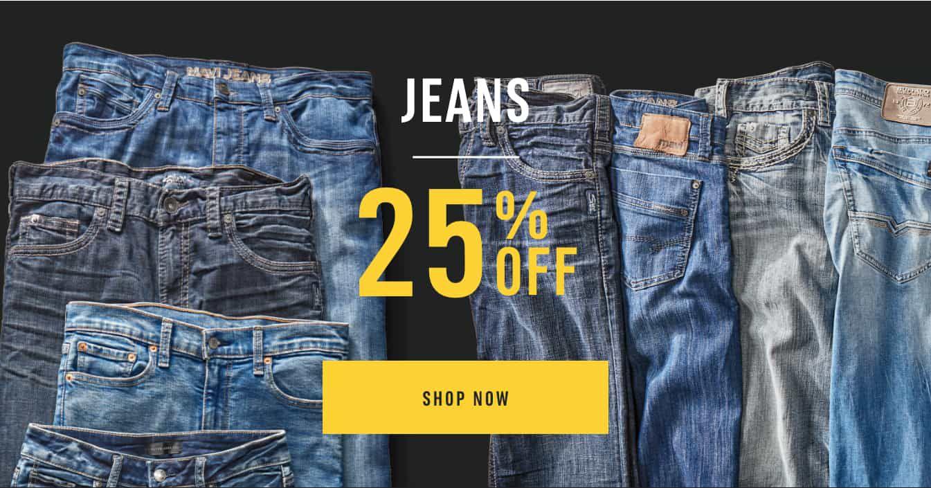 Jeans 25% Off. Shop Now