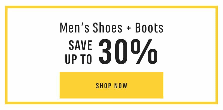 Men's Shoes & Boots: Save up to 30%. Shop Now