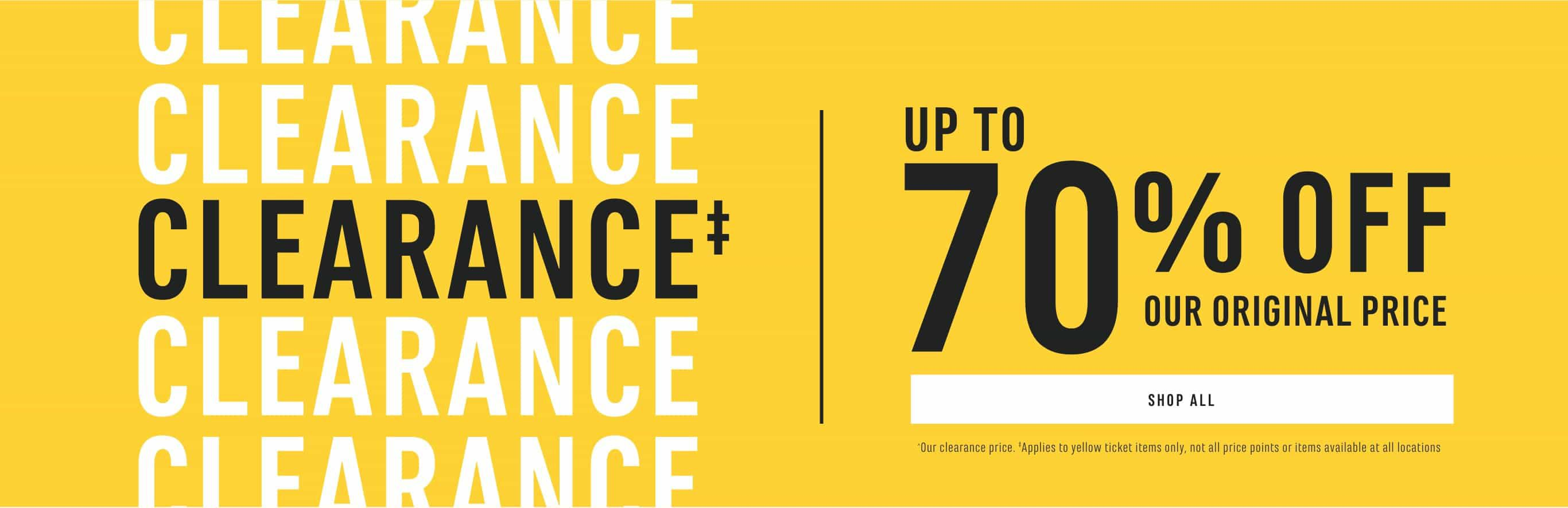 Clearance up to 70% Off Our Original Price. Shop Now.