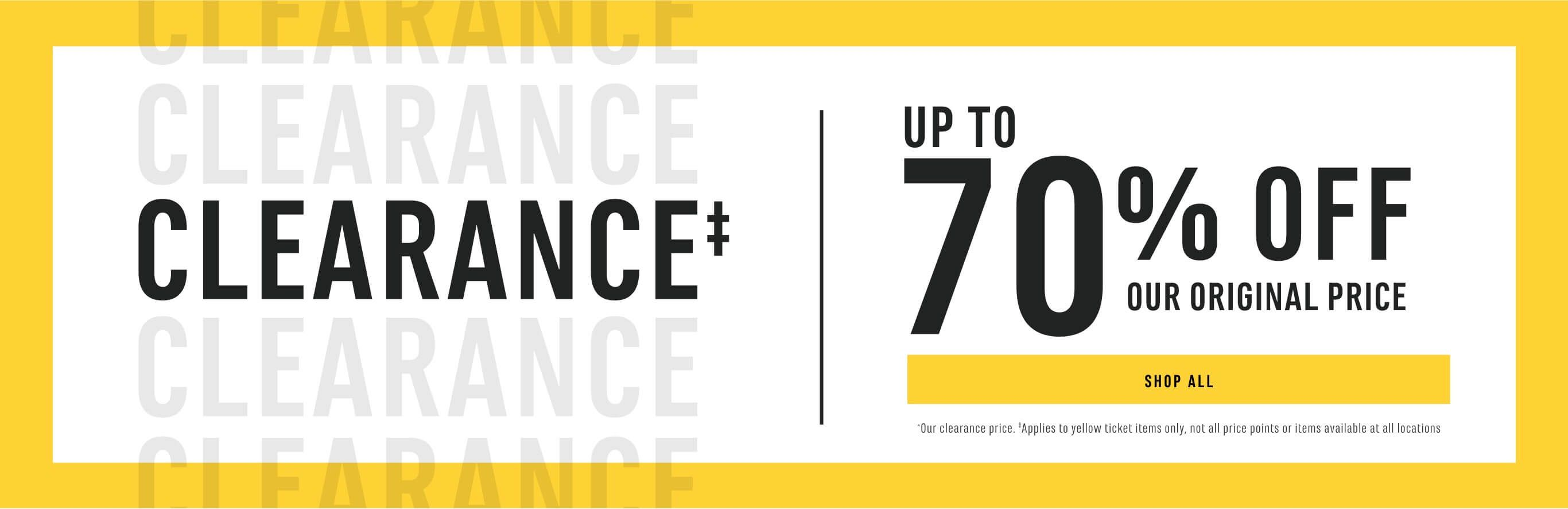 Clearance up to 70% Off Our Original Price. Shop Now!