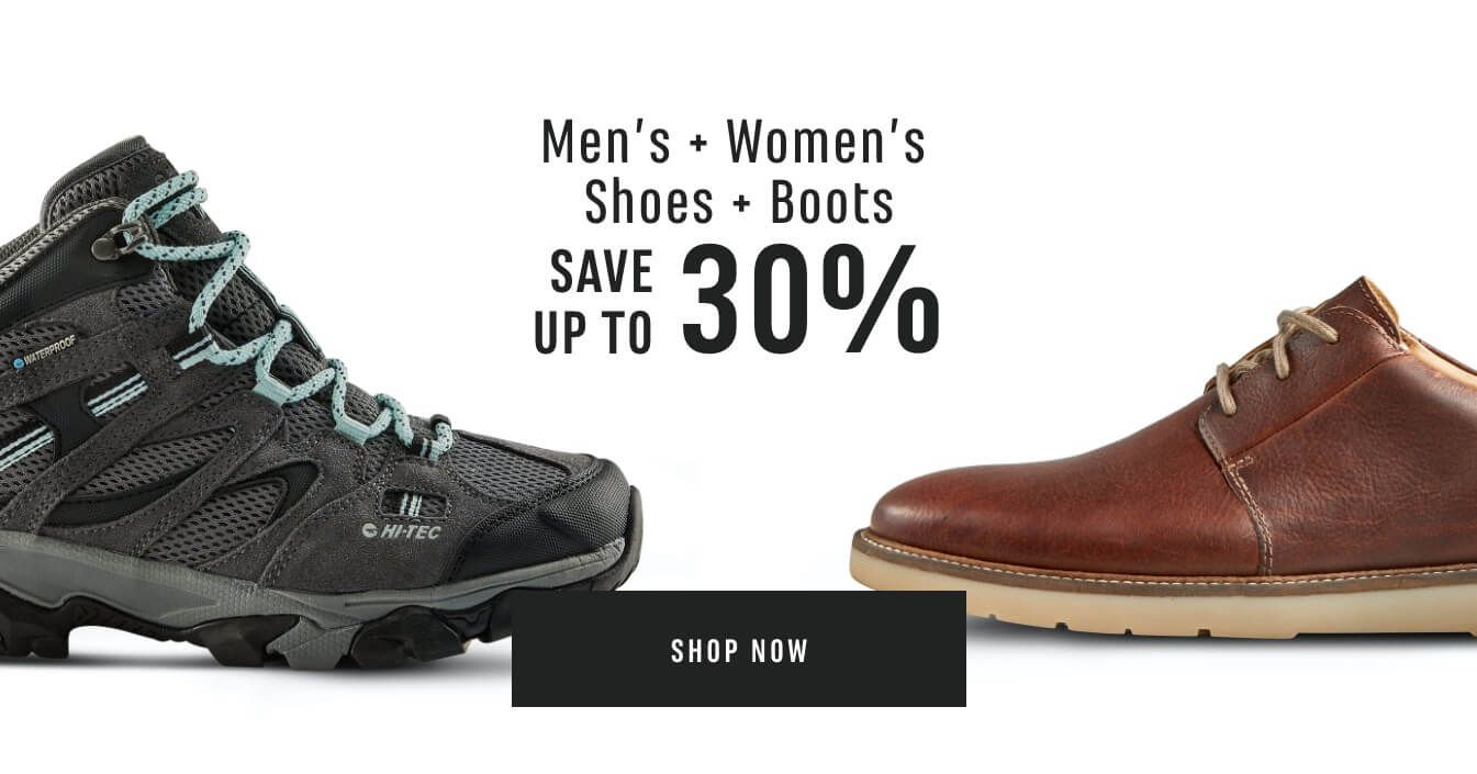 Men's and Women's Shoes and Boots Sale. Save up to 30% Off. Shop Now