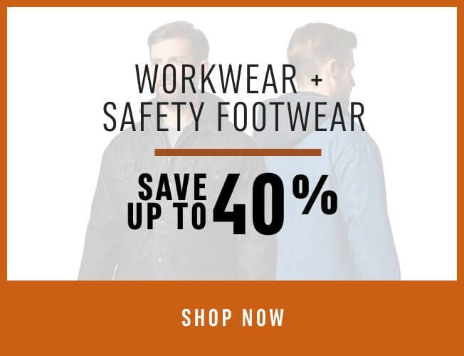 Door Crasher Deal! Workwear & Safety Footwear - Save up to 40%. SHOP NOW