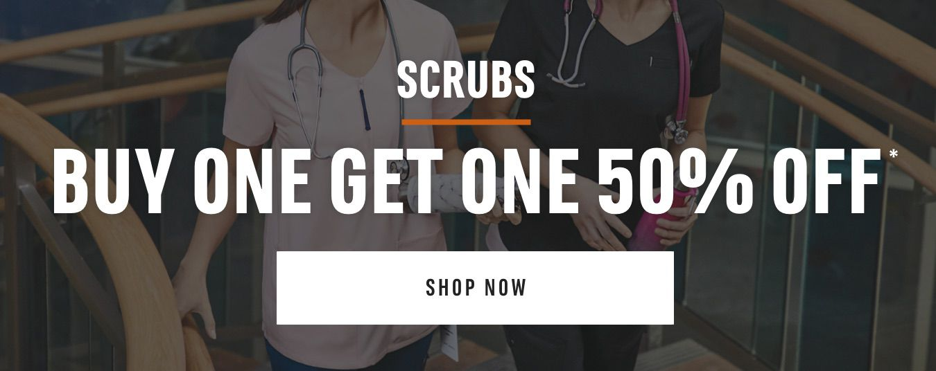 Scrubs Buy One Get One 50% Off*. Shop Now