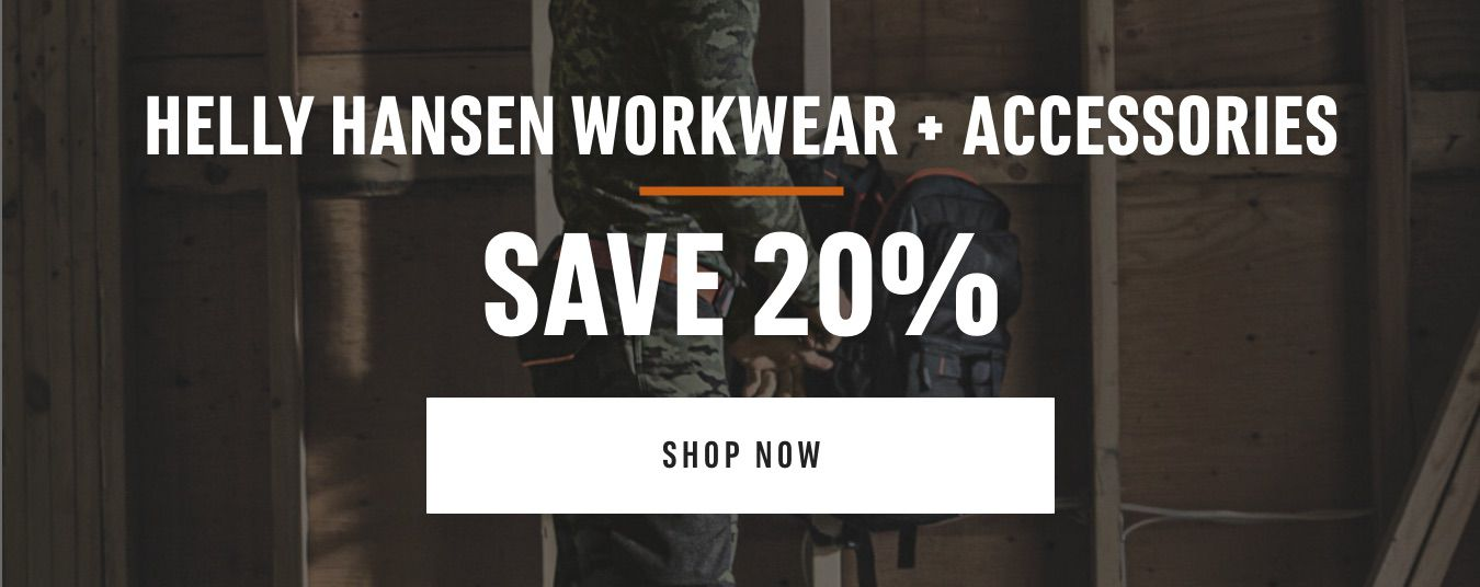 Helly Hansen Workwear and Accessories - Save 20%. Shop Now