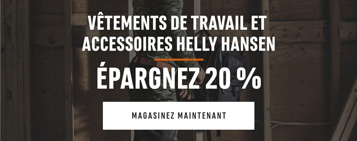 Vêtements de travail et accessoires Helly Hansen: Épargnez 20 % MAGASINEZ MAINTENANT