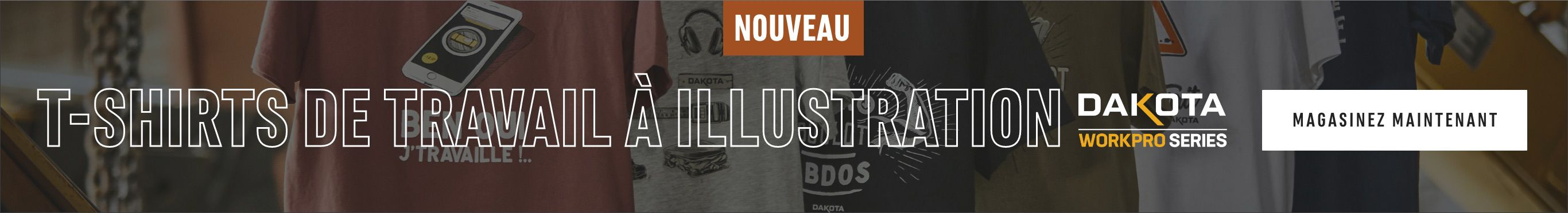 Nouveau ! T-shirts de travail à illustration. Magasinez maintenant
