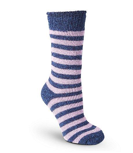 d7146a0c08945 T Max Heat Women's T-MAX Striped Thermal Crew Socks