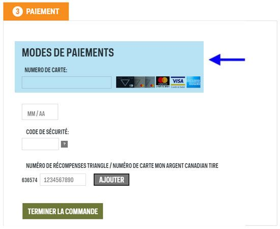 Example Payment Screen