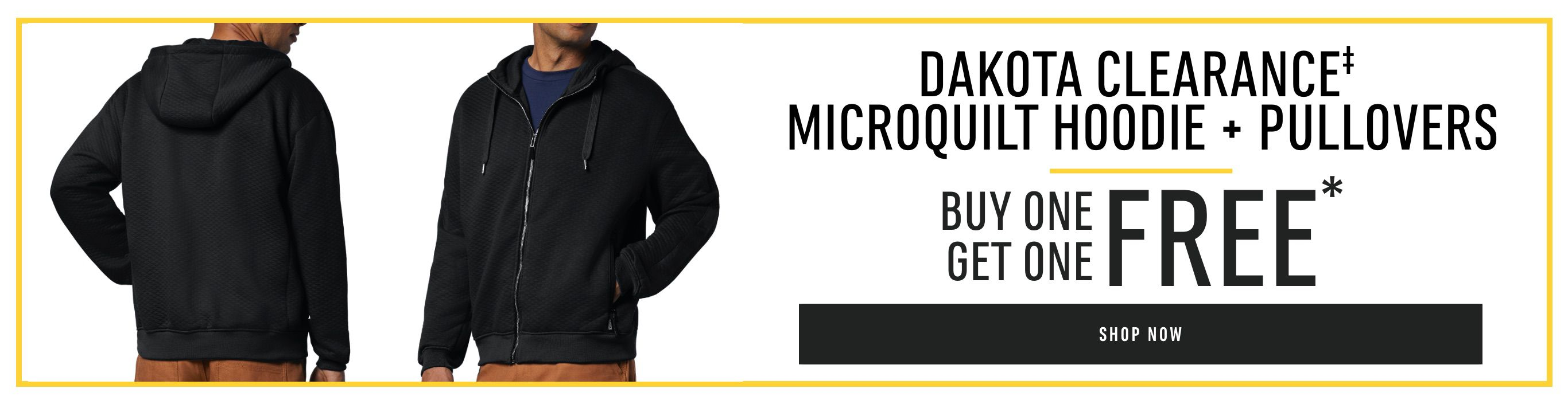 dakota clearance microquilt hoodie and pullovers bogo free