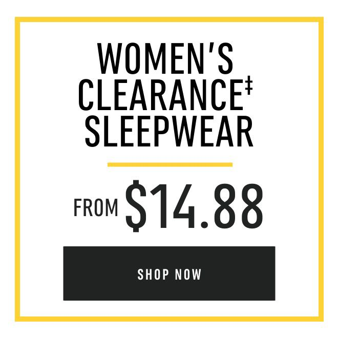 Women's Clearance Sleepwear from $14.88