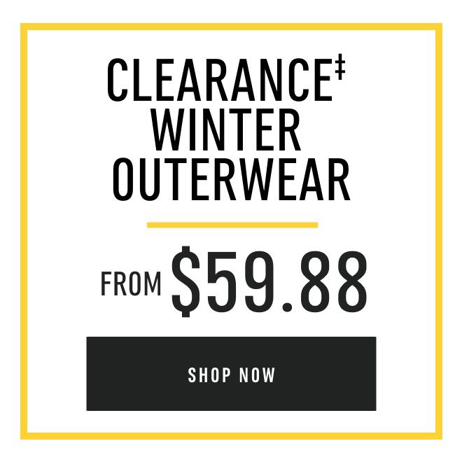 Clearance Winter Outerwear from $59.88