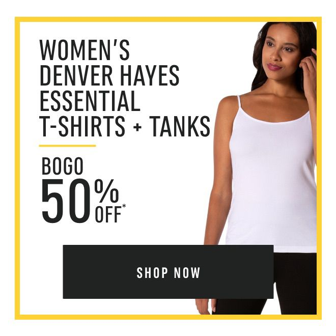 Women's Denver Hayes Essential T-Shirts + Tanks - Buy One Get One 50% Off*