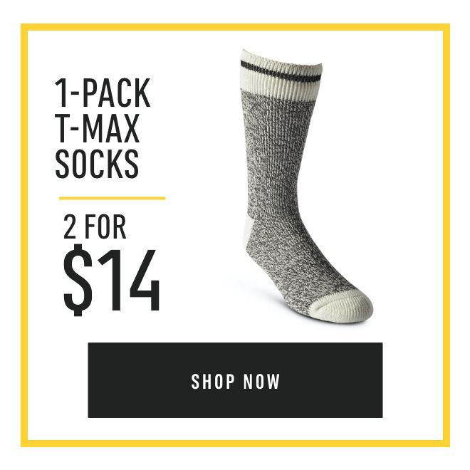 1-Pack T-Max Socks: 2 for $14