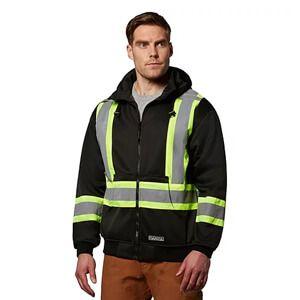 Men's Hi-Visibility Lined Full-Zip Hooded Sweatshirt