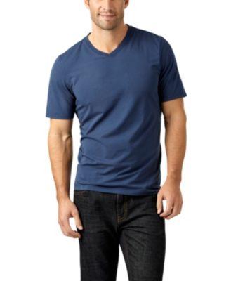 Men's Denver Hayes Short-Sleeve V-Neck T-Shirt Black Medium