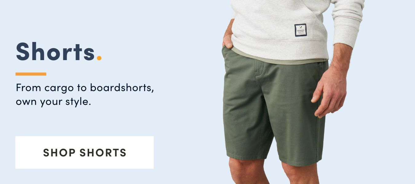 From Cargo to boardshorts, own your style. Shop Shorts