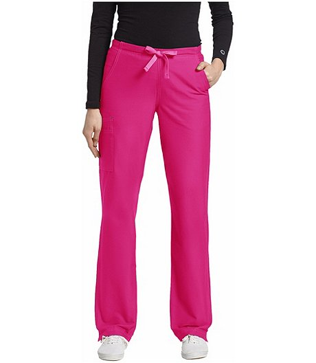 Women's Allure Cargo Pocket Drawstring Scrub Pants