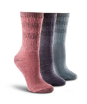 WindRiver Women's 3-Pack Quad Comfort Merino Light Hiker Socks