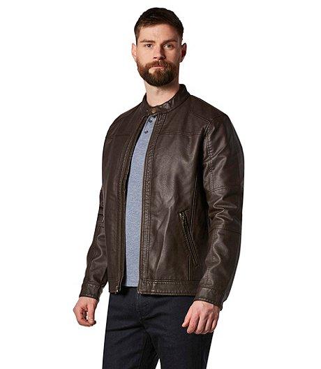 e5e7a14f2abd Denver Hayes Men's PU Moto Jacket
