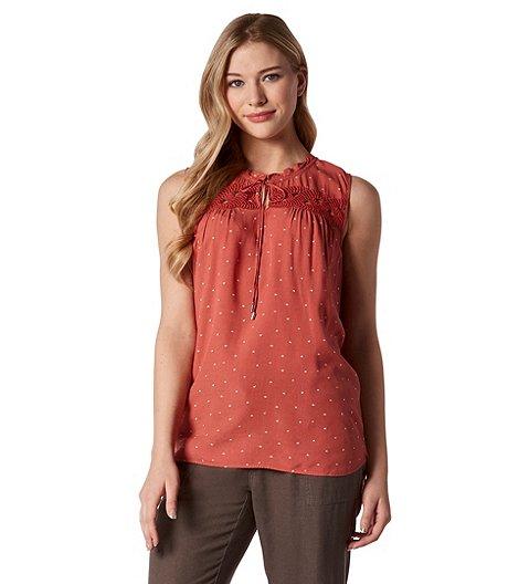 59407328b1f67 Denver Hayes Women s Sleeveless Lace Appliqué Blouse