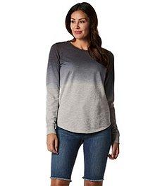a5ecff9f01 Denver Hayes Women s Slub Sweatshirt - Ombre ...