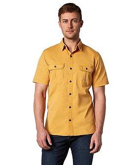 WindRiver Men's Short Sleeve Stretch Utility Shirt - Modern Fit