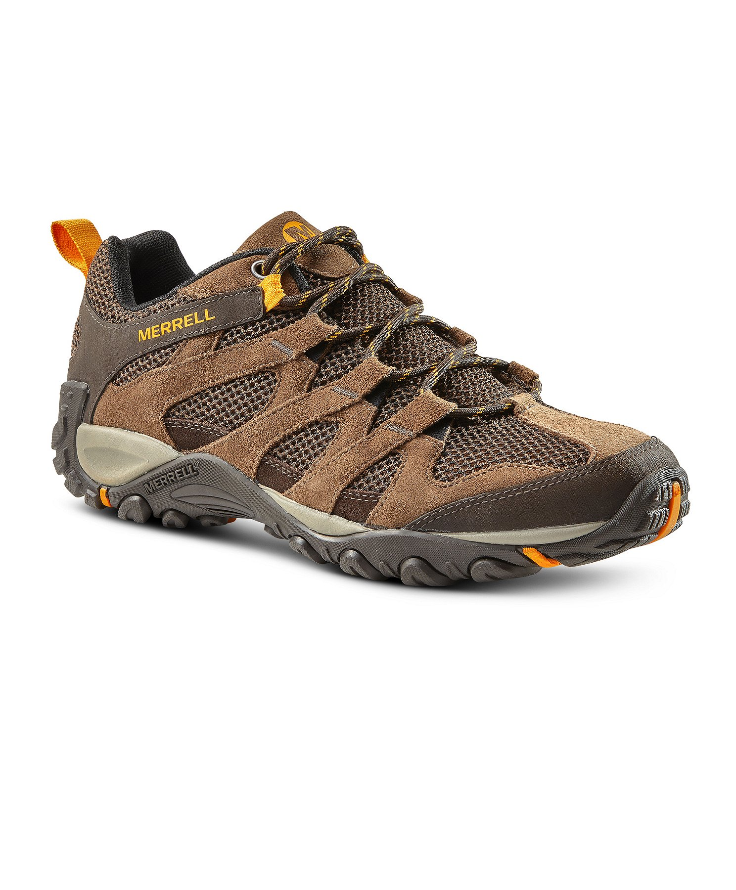 Merrell Mens Alverstone Mid Brown Suede Waterproof Hiking Walking Hiker Boots