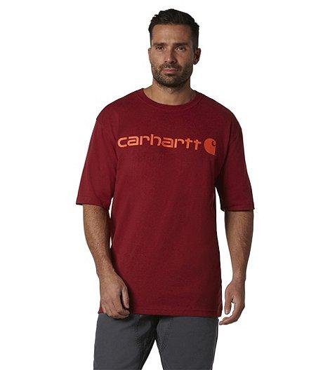 532b74302f Carhartt Men's Signature Logo Short-Sleeve T-Shirt