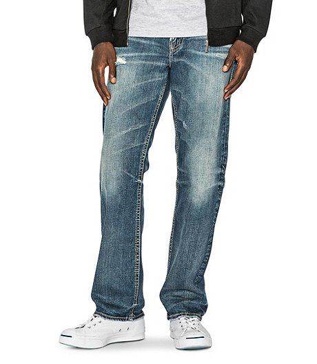 8112fe67 Silver® Jeans Co. Men's Gordie Loose Fit Straight - Dark Jean