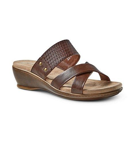 9c320803e Denver Hayes Women s Stella Quad Comfort Low Wedge Sandals