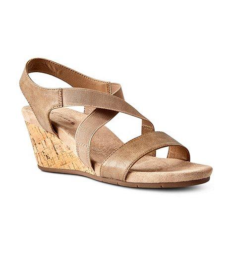 58e410a3550 Denver Hayes Women s Jillian Quad Comfort Wedge Sandals