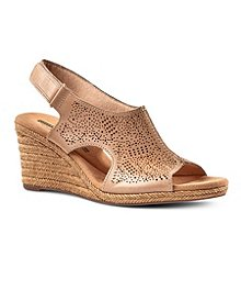 4dc97ba4cc2 Clarks Women s Lafley Rosen Wedge Leather Sandals ...