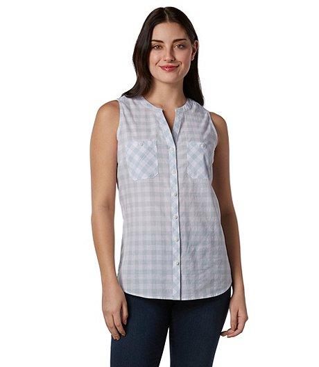 8667151f Denver Hayes Women's Sleeveless Gingham Shirt