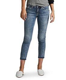 616f1d8ff3e Silver® Jeans Co. Women s Elyse Slim Crop Jeans ...