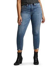 420b8d6e Silver® Jeans Co. Women's Calley Skinny Crop Jeans ...