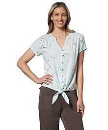 3dedb815642b8 Denver Hayes Women s Button-Up Tie Front Blouse ...