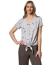 9126472b3e7 Denver Hayes Women's Button-Up Tie Front Blouse ...