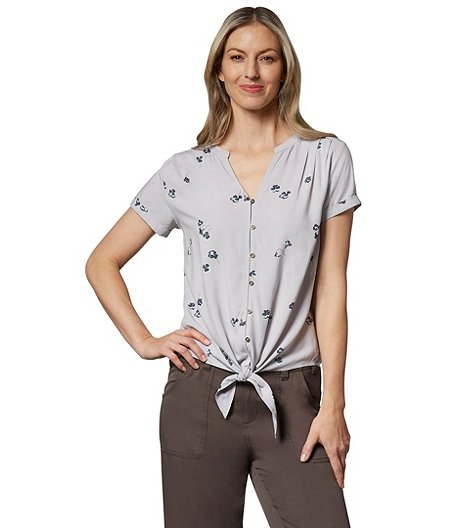 b8b14b06a95 Women's Button-Up Tie Front Blouse