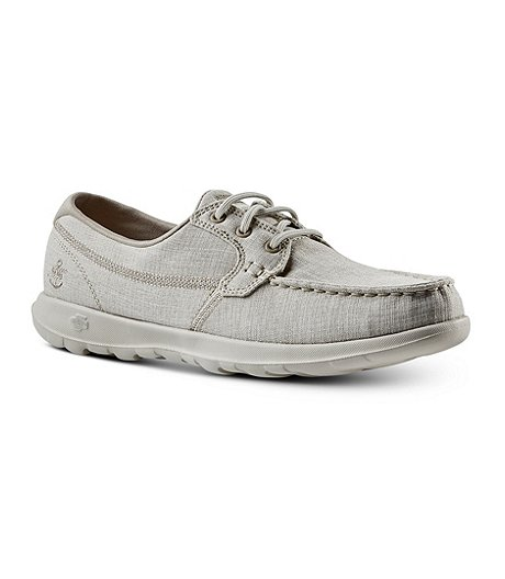 info for e0141 53d16 Skechers Women s Go Walk Lite Coral Boat Shoes