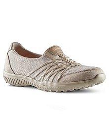 0ad1eec8d18 Skechers Chaussures à enfiler en tissu tressé pour femmes