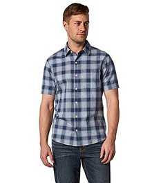 22dd9d4fd Denver Hayes Men's Short Sleeve Untucked Shirt - Modern Fit ...