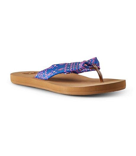 ea7979956 Ripzone Women s Kai Cloth Flip-Flops - Blue Floral