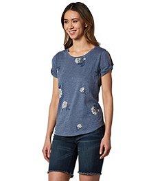 cdbf4dc9706bc Denver Hayes Women's Twist Sleeve T-Shirt - Printed ...