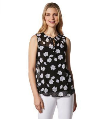 d7b6d2e7c032e Women s Sleeveless Lace Appliqué Blouse · Women s Sleeveless Printed Clip  Dot Blouse