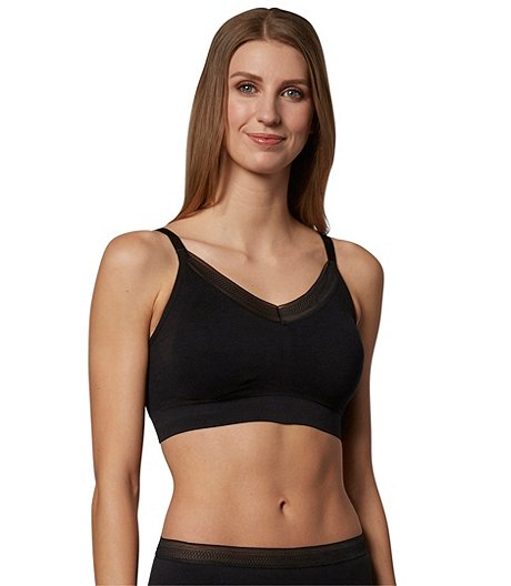 Denver Hayes Women's Perfect Fit Seamless Comfort Bra with Lace