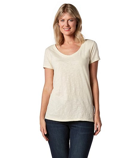 b632fbdd Denver Hayes Women's Artisan Slub Scoop V-Neck T-Shirt