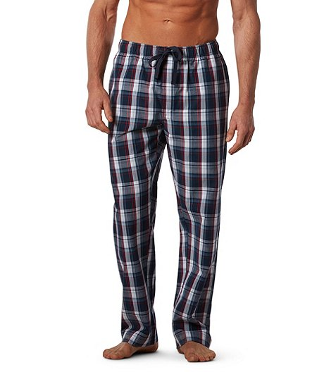 81c5380e Denver Hayes Men's Woven Plaid Lounge Pants